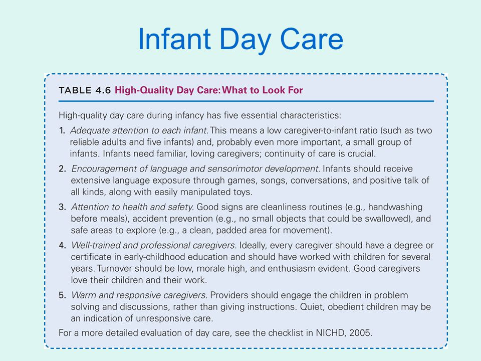 Infant Day Care