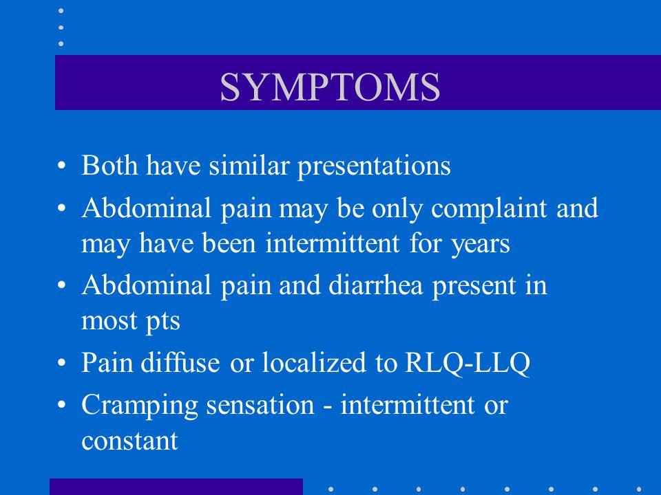 SYMPTOMS Both have similar presentations