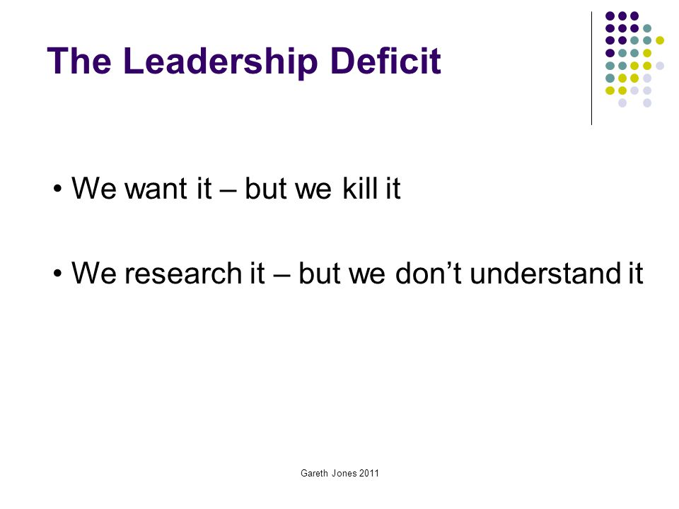 The Leadership Deficit