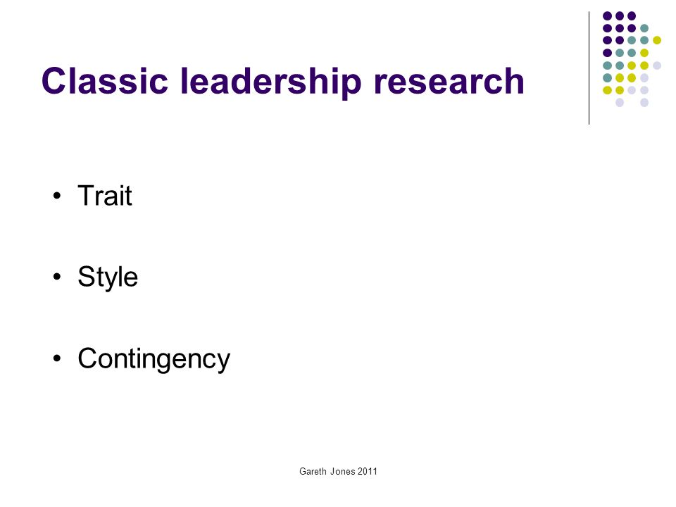 Classic leadership research