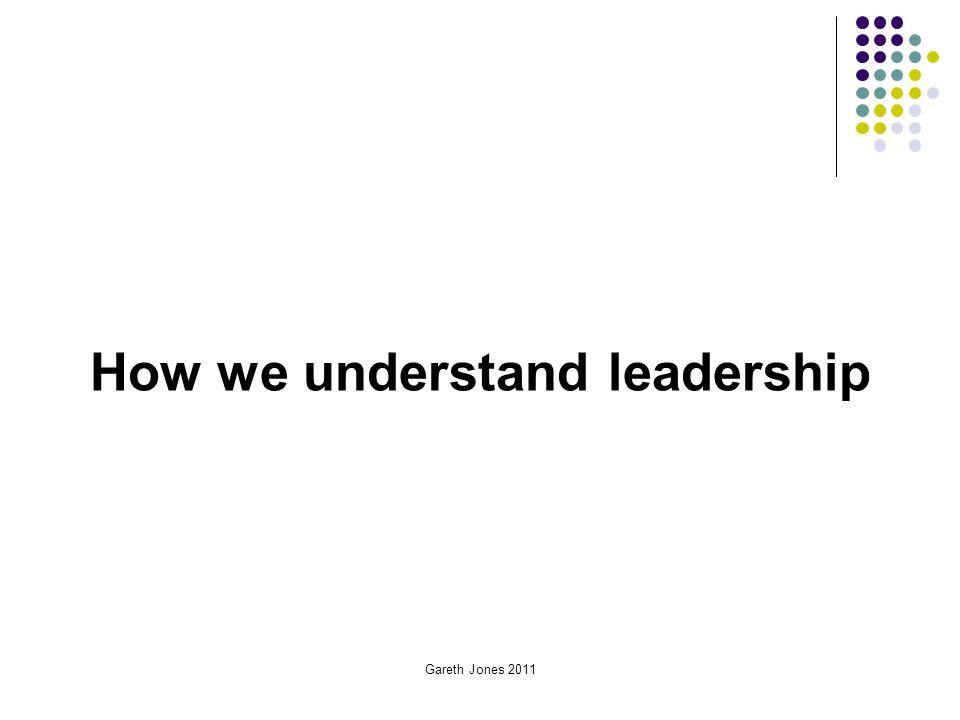 How we understand leadership