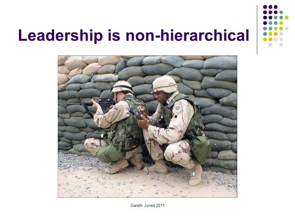 Leadership is non-hierarchical