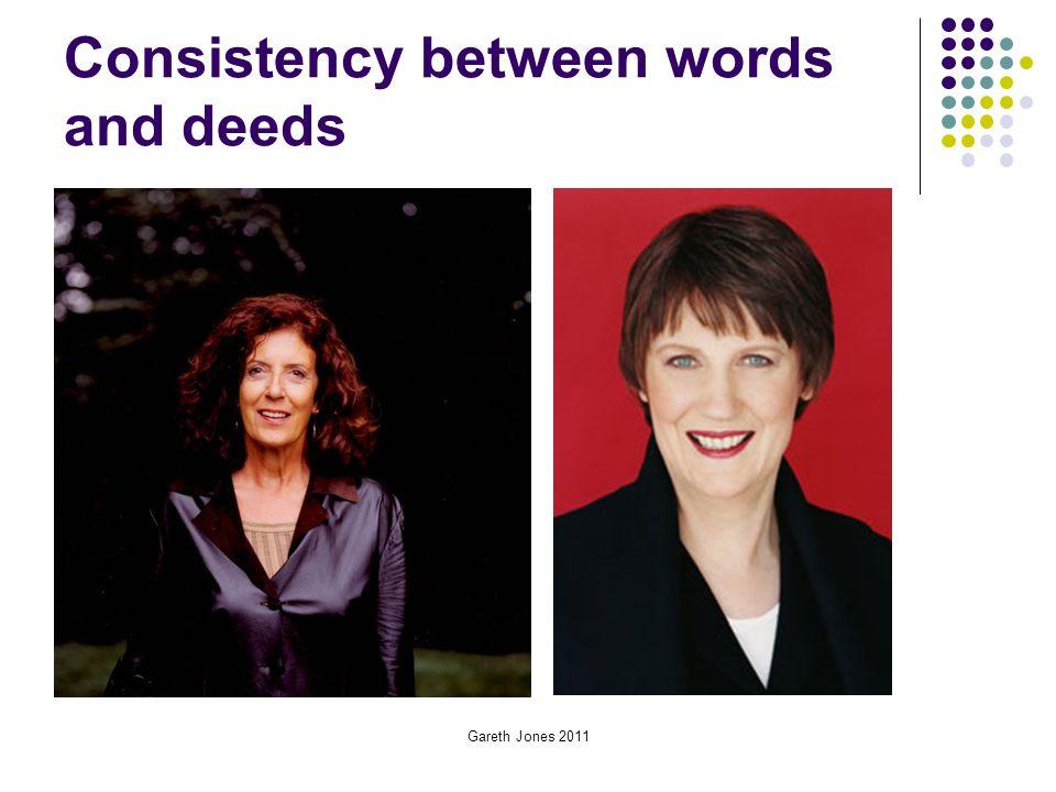 Consistency between words and deeds