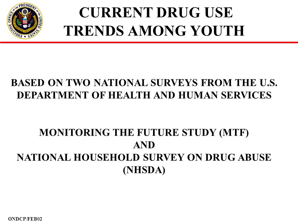 CURRENT DRUG USE TRENDS AMONG YOUTH