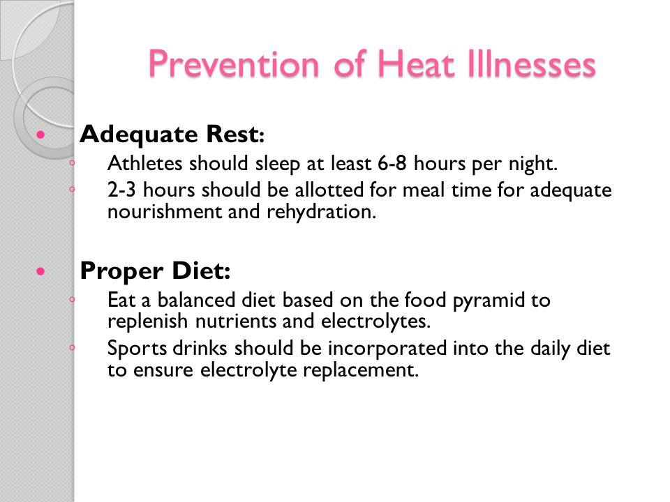 Prevention of Heat Illnesses
