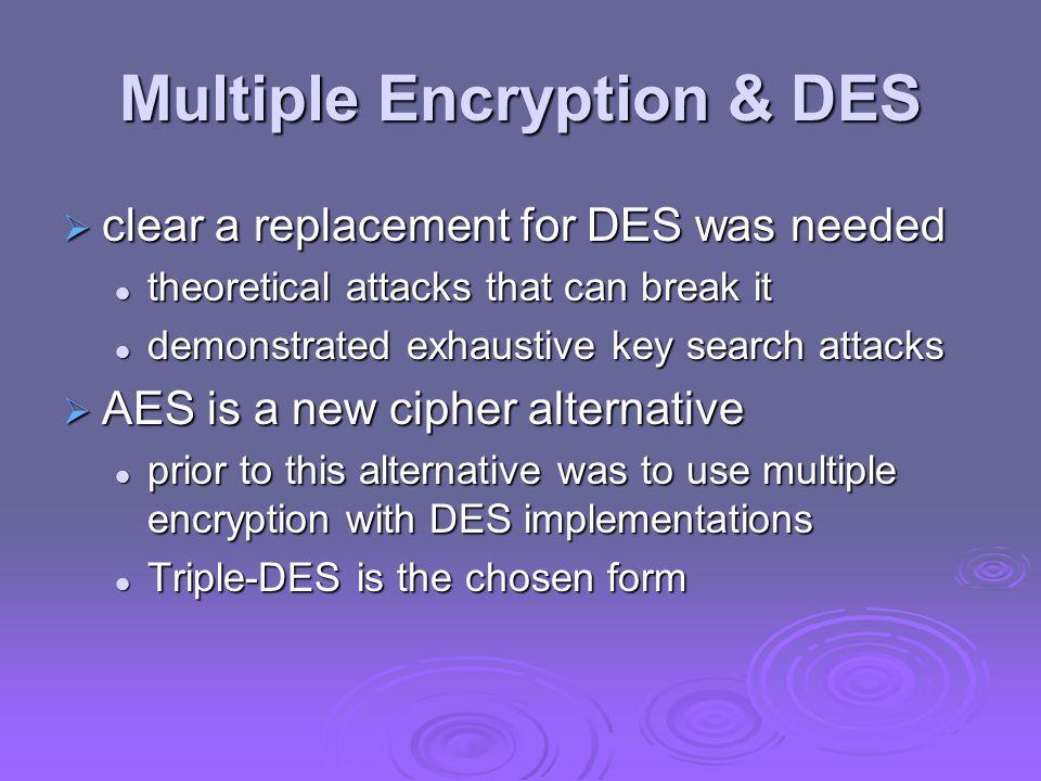 Multiple Encryption & DES