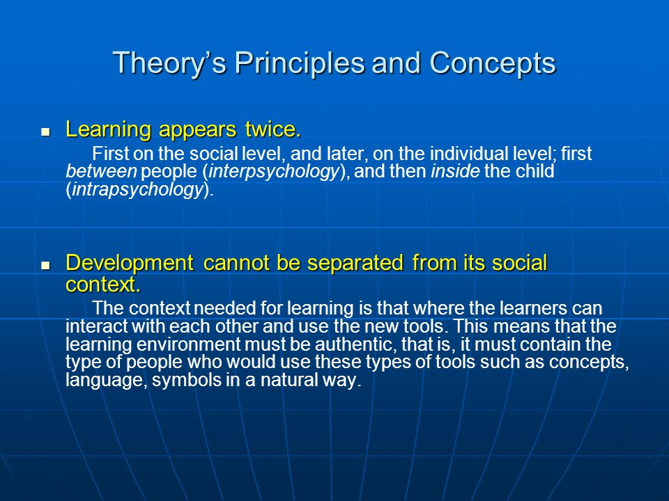 Theory's Principles and Concepts