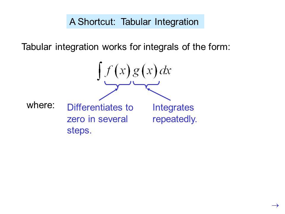 A Shortcut: Tabular Integration