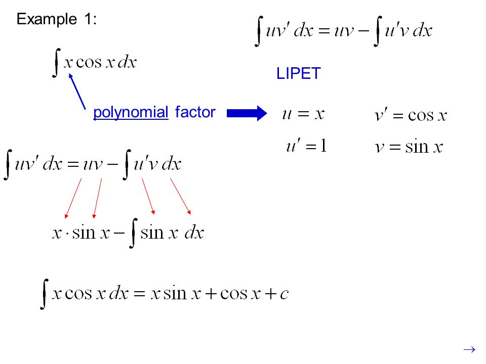 Example 1: LIPET polynomial factor
