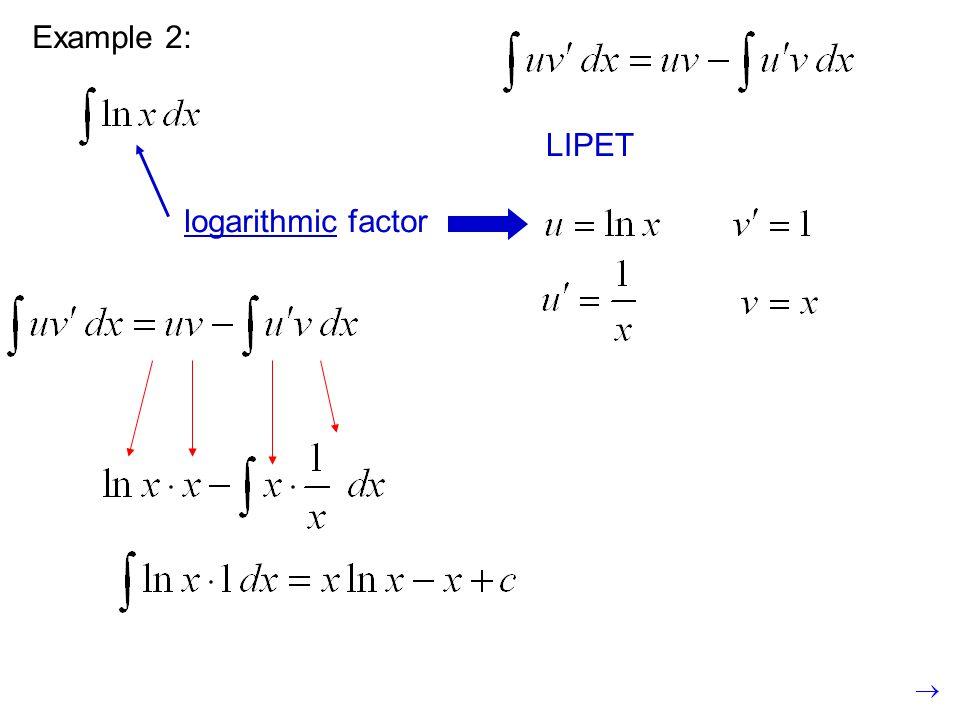 Example 2: LIPET logarithmic factor