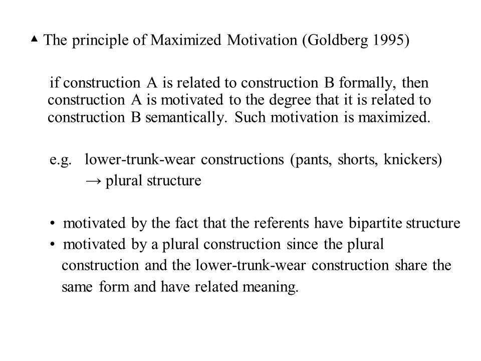 ▲ The principle of Maximized Motivation (Goldberg 1995)