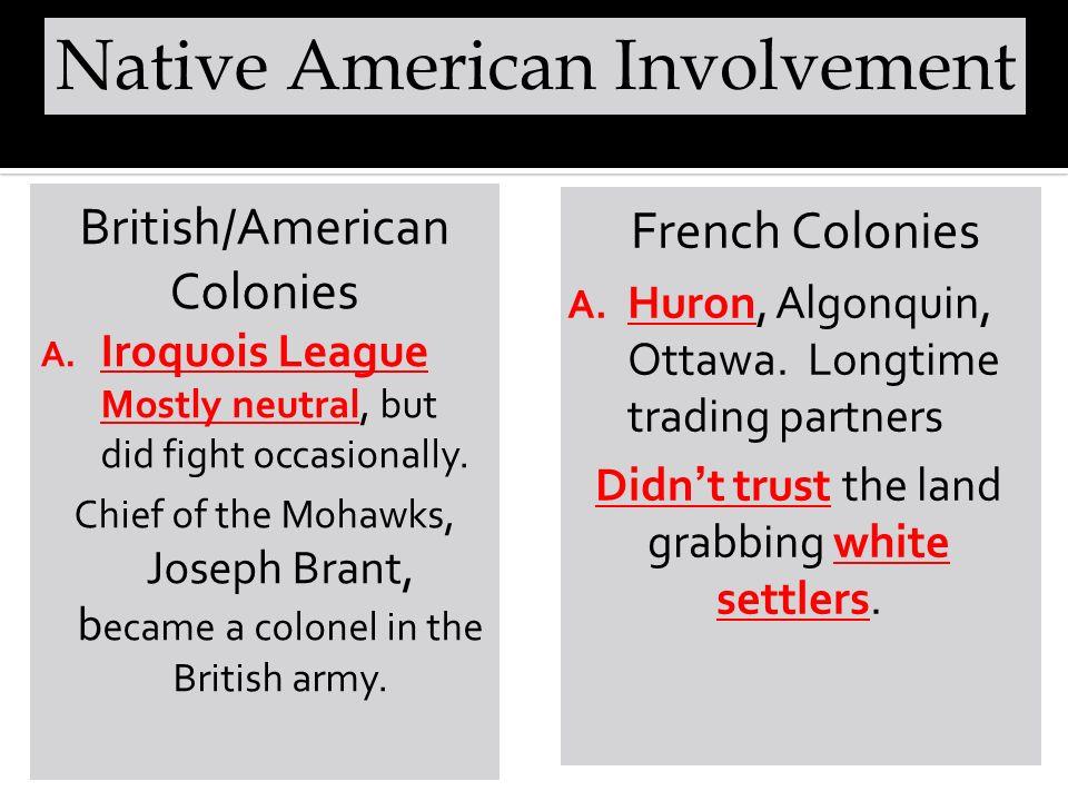 Native American Involvement