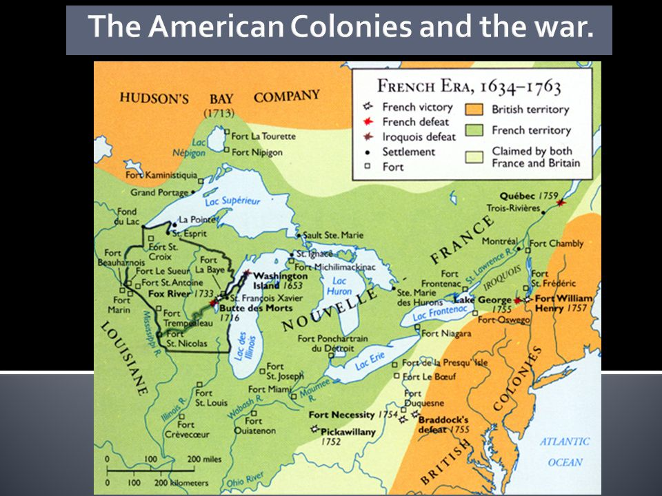The American Colonies and the war.