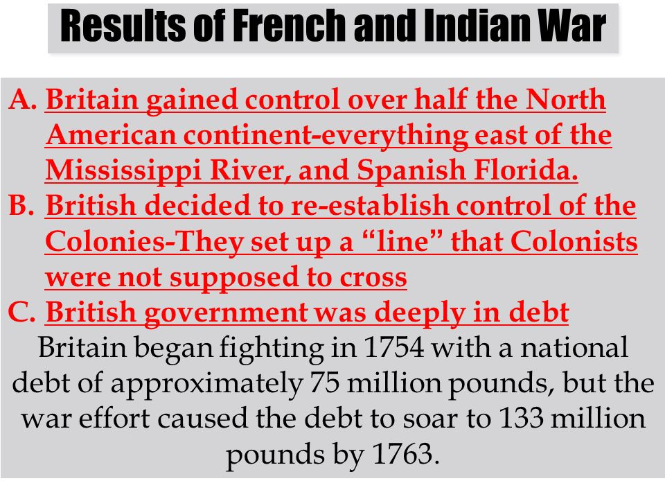 Results of French and Indian War