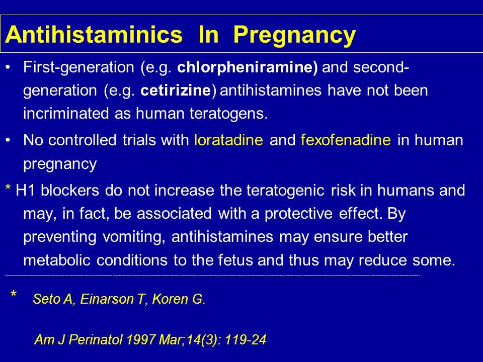 Antihistaminics In Pregnancy