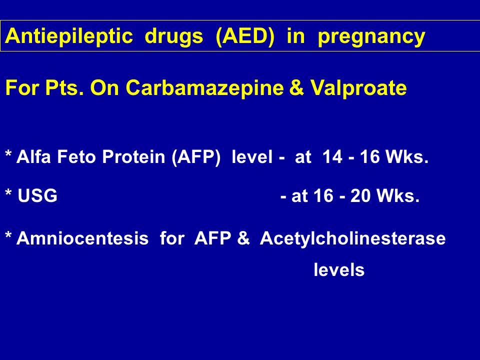 Antiepileptic drugs (AED) in pregnancy