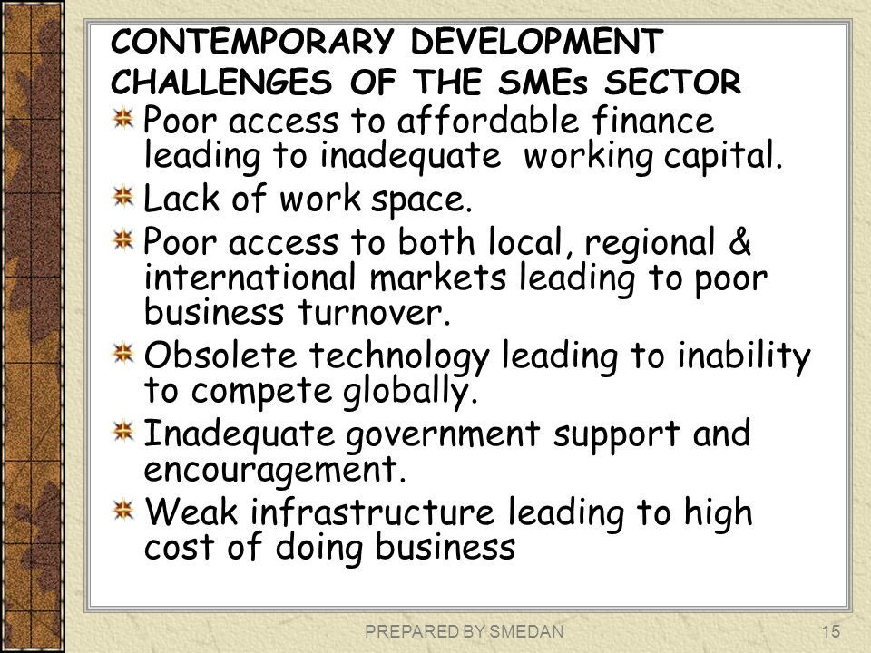 CONTEMPORARY DEVELOPMENT CHALLENGES OF THE SMEs SECTOR