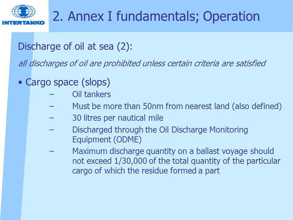 2. Annex I fundamentals; Operation
