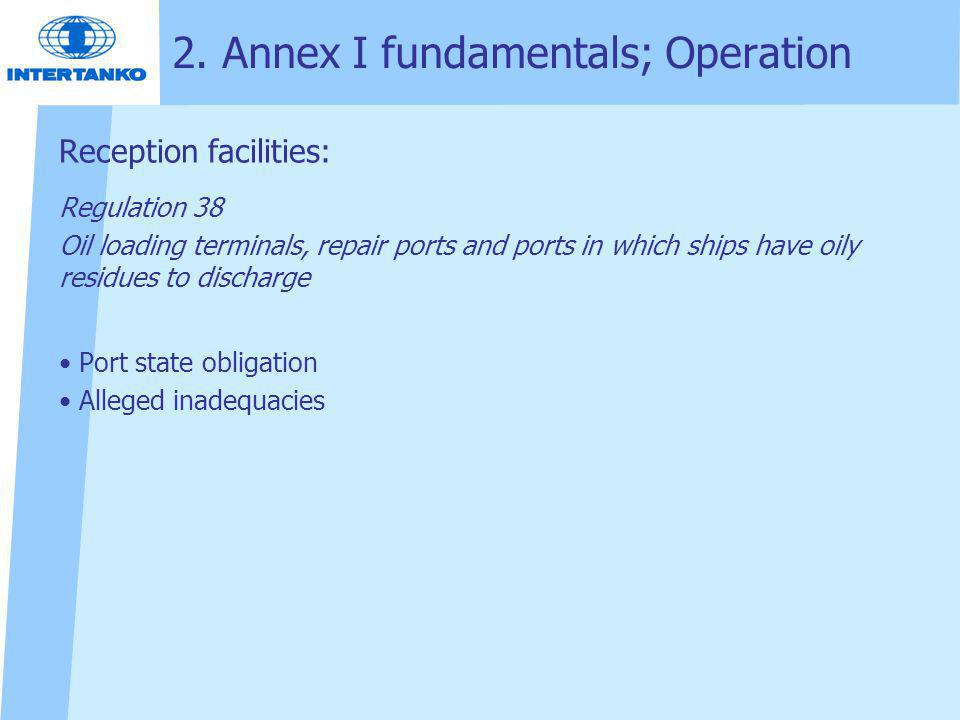 2. Annex I fundamentals; Operation