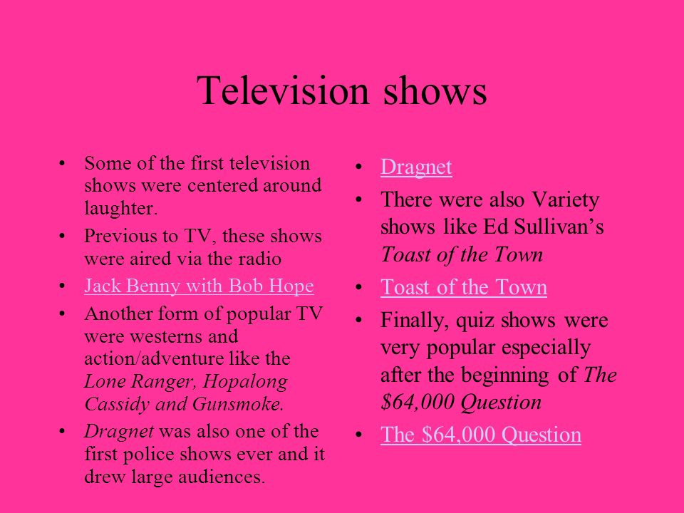 Television shows Dragnet