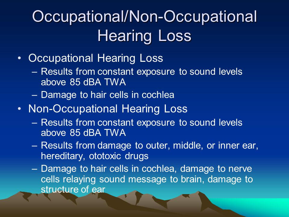 Occupational/Non-Occupational Hearing Loss