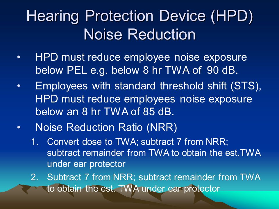 Hearing Protection Device (HPD) Noise Reduction