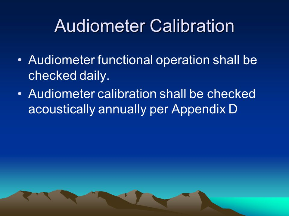 Audiometer Calibration