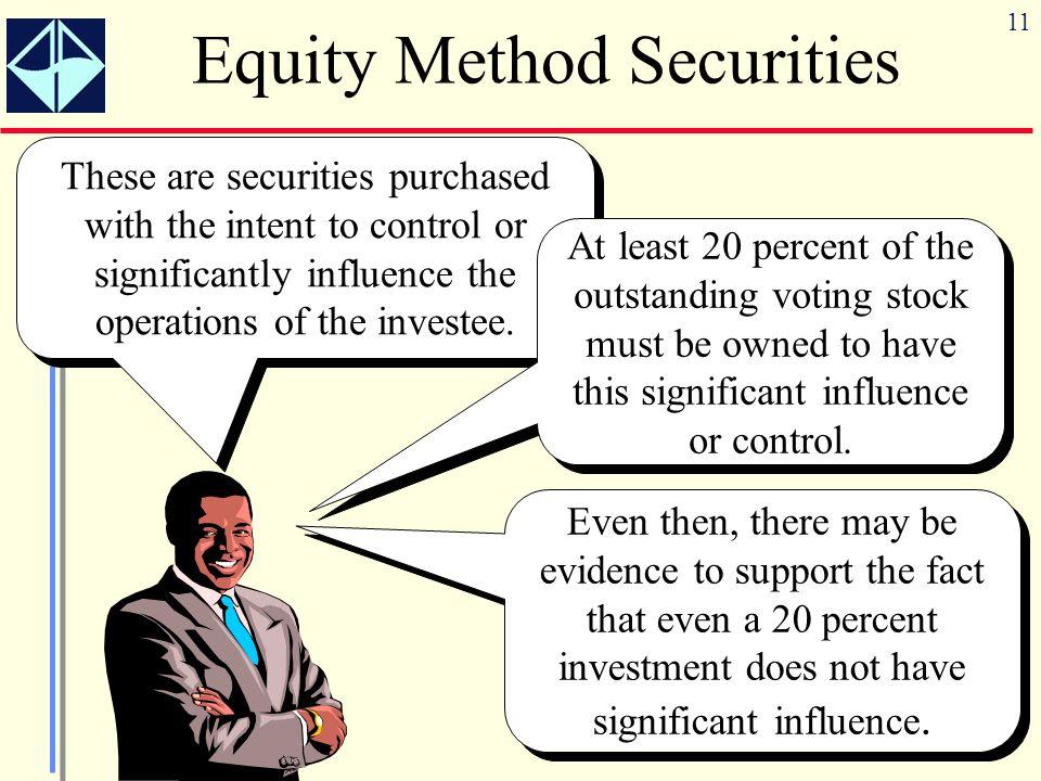 Equity Method Securities