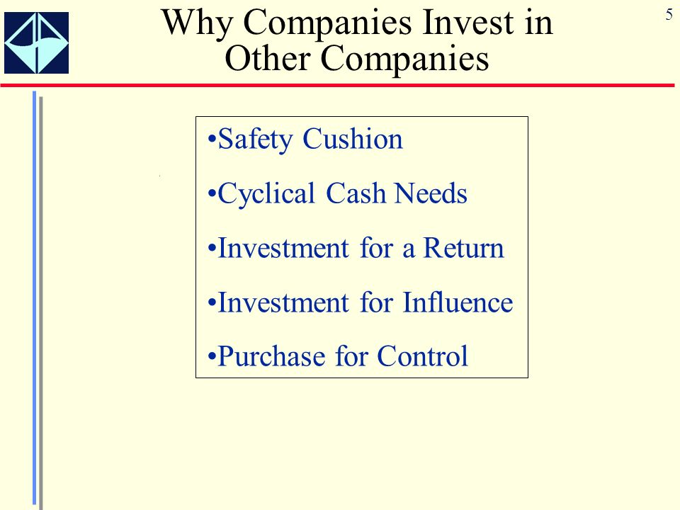 Why Companies Invest in Other Companies