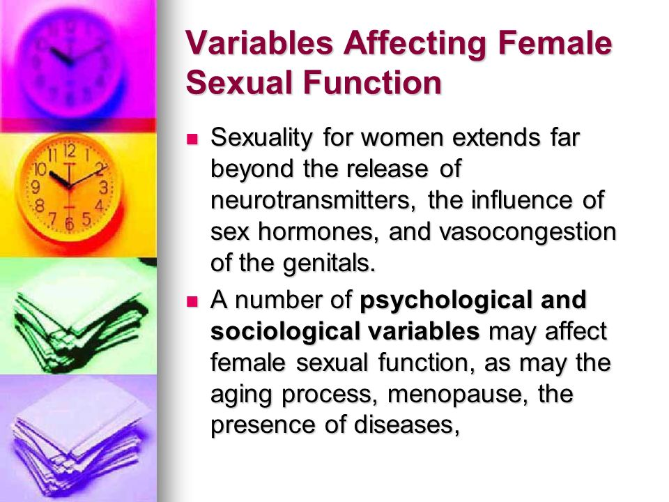 Variables Affecting Female Sexual Function