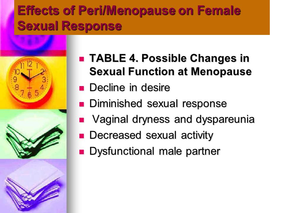 Effects of Peri/Menopause on Female Sexual Response