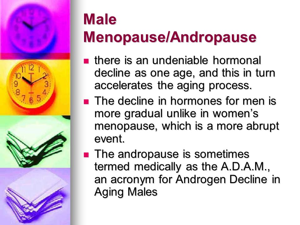 Male Menopause/Andropause
