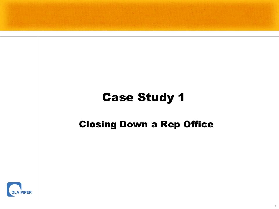 Closing Down a Rep Office