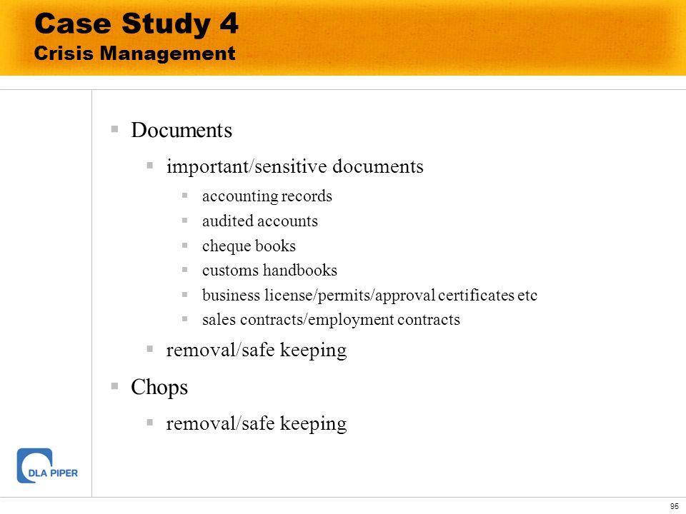 Case Study 4 Crisis Management