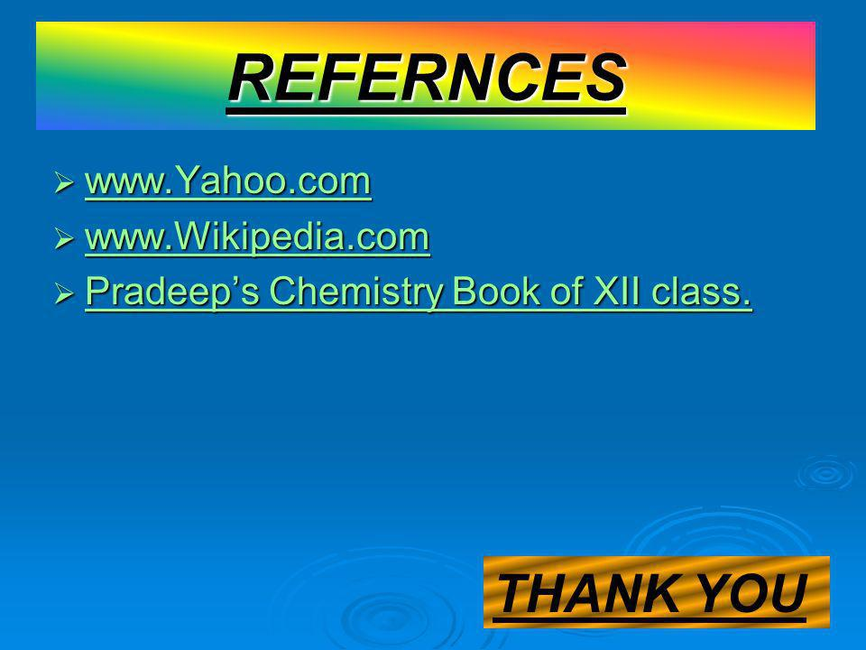 REFERNCES THANK YOU www.Yahoo.com www.Wikipedia.com