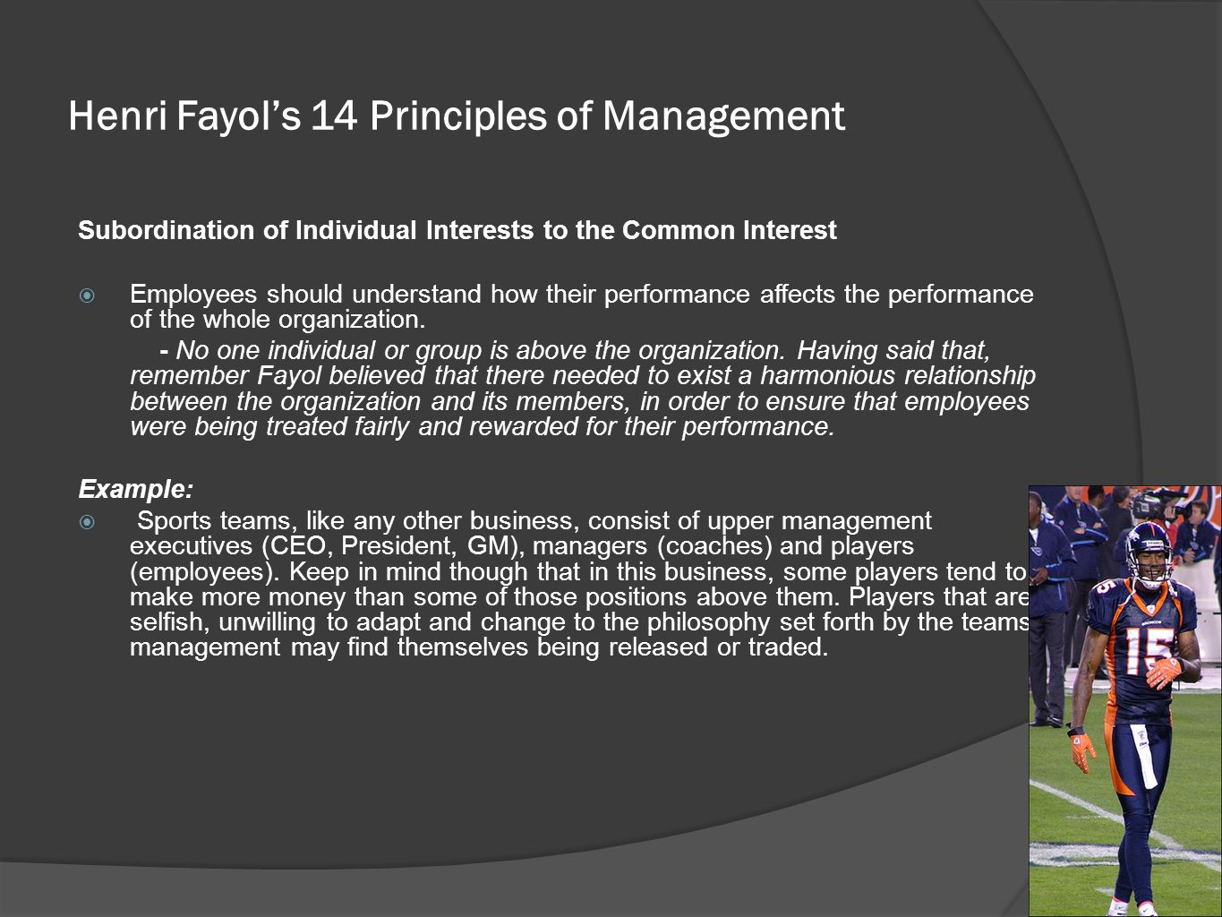fayols 14 principles 1 introduction management in organizations is a dynamic discipline many had been trying means and ways to improve or invent management methods for the betterment and ease of managers.