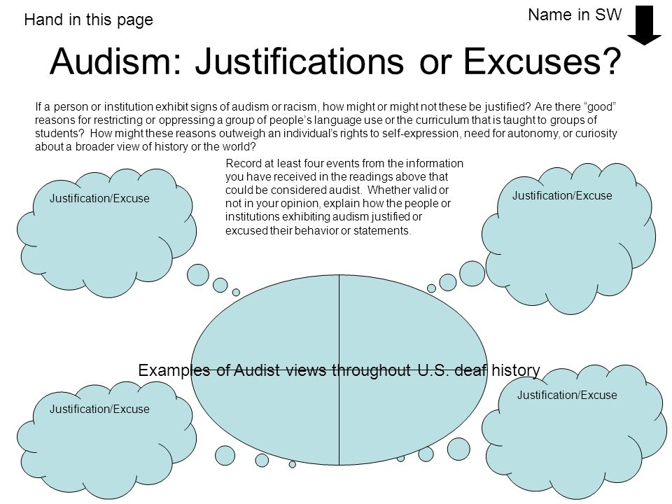 Audism: Justifications or Excuses