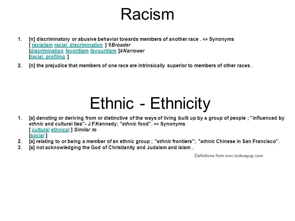 Racism Ethnic - Ethnicity