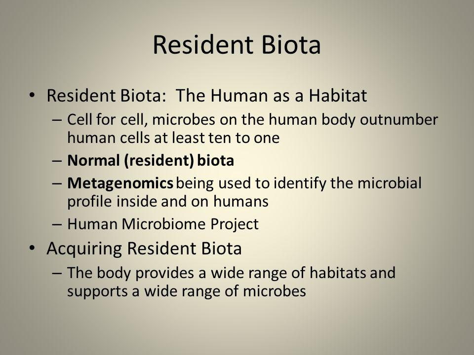 Resident Biota Resident Biota: The Human as a Habitat