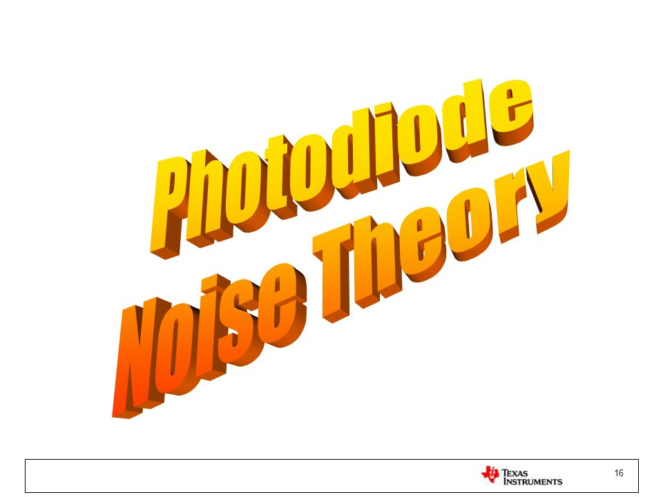 Photodiode Noise Theory