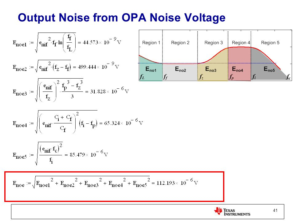 Output Noise from OPA Noise Voltage