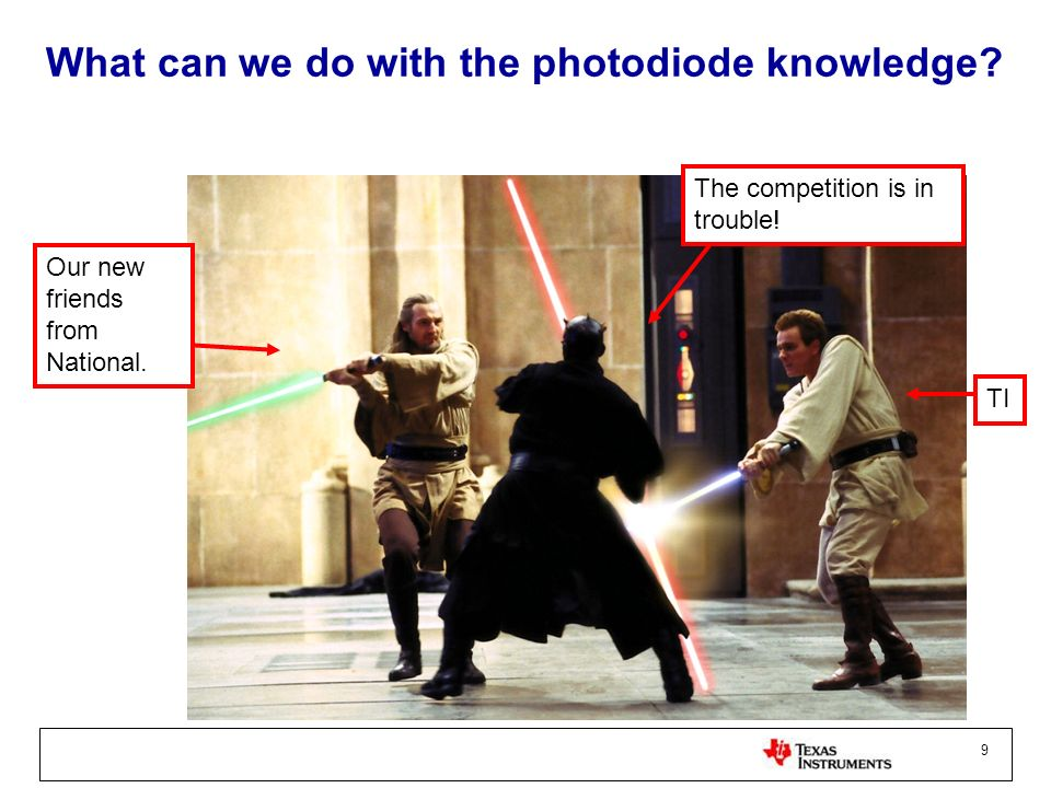 What can we do with the photodiode knowledge