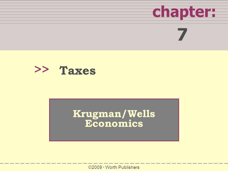 7 chapter: >> Taxes Krugman/Wells Economics