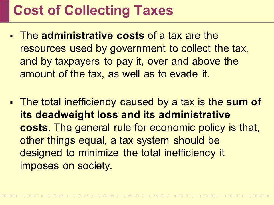 Cost of Collecting Taxes