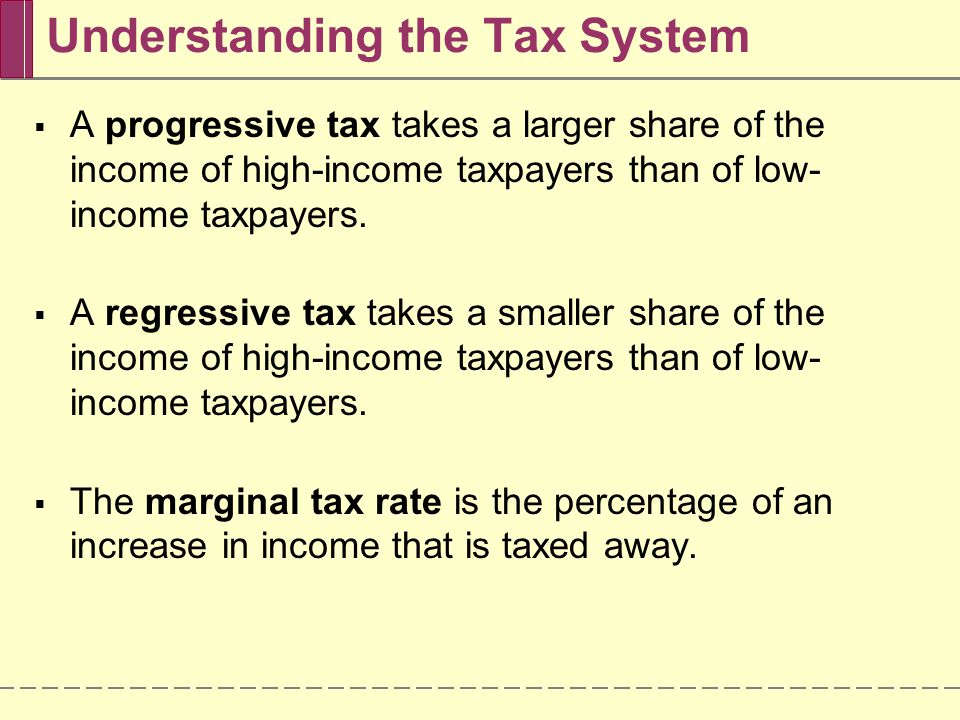 Understanding the Tax System