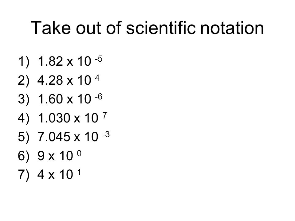 Take out of scientific notation