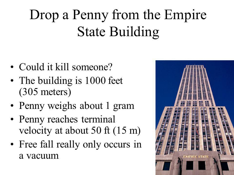 Drop a Penny from the Empire State Building