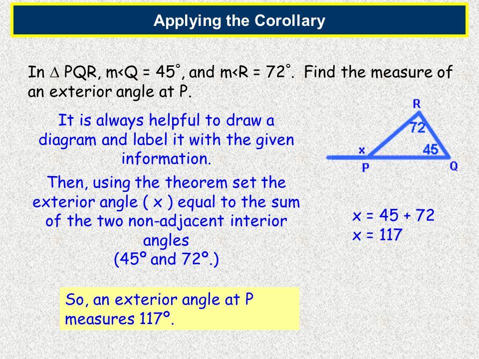 Applying the Corollary