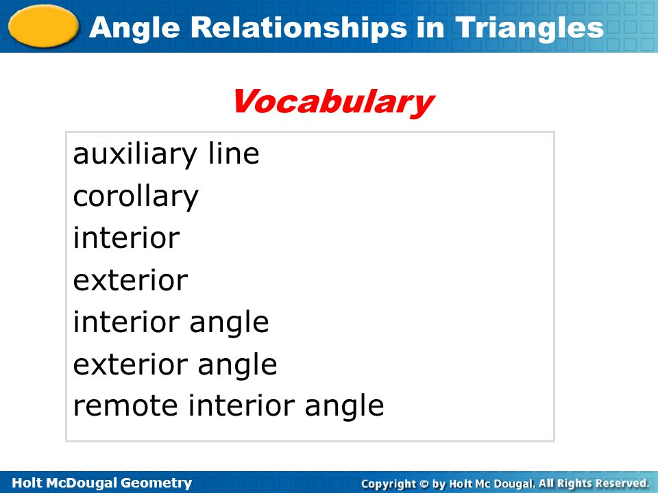 Angle Relationships In Triangles Ppt Video Online Download