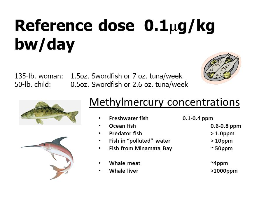 Methylmercury concentrations